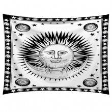 GB037 Гобелен Солнце и Луна (белый) 95х73см