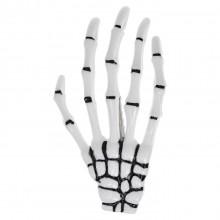 HZ013-1 Зажим для волос Рука скелета, цвет белый