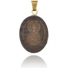 IK003-014 Именная иконка из обсидиана 27x22мм Антонина