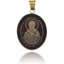 IK003-041 Именная иконка из обсидиана 27x22мм Геннадий