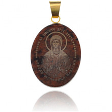 IK003-070 Именная иконка из обсидиана 27x22мм Клавдия