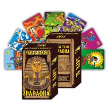 KG11027 Карты гадальные подарочные VIP Таро Фараона 78 карт 14х8х3,3см