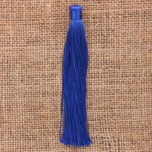 KIS001-04 Кисточка из ниток 12см, цвет Синий
