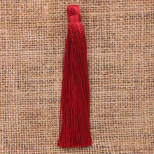 KIS001-06 Кисточка из ниток 12см, цвет Бордовый