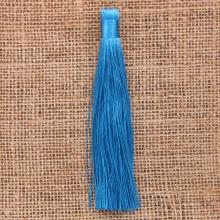 KIS001-10 Кисточка из ниток 12см, цвет Голубой