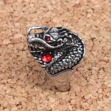 KL020-8 Кольцо Дракон, размер 8 (18,5мм), цвет серебр.