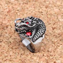 KL020-11 Кольцо Дракон, размер 11 (20,5мм), цвет серебр.
