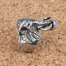 KL021-10 Кольцо Слон, размер 10 (19,9мм), цвет серебр.