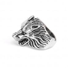 KL030-8 Кольцо Волк, размер 8 (18,5мм), цвет серебр.