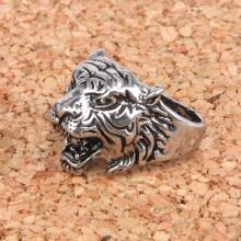 KL031-11 Кольцо Тигр, размер 11 (31,5мм), цвет серебр.
