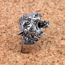 KL031-8 Кольцо Тигр, размер 8 (18,5мм), цвет серебр.