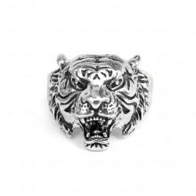 KL031-9 Кольцо Тигр, размер 9 (19мм), цвет серебр.