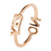 KL041-G Кольцо YES - NO безразмерное, цвет золото