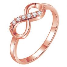KL105-RG-8 Кольцо Бесконечность, цвет роз.золот., размер 8