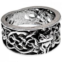 KL128-10 Кольцо Кельтская лиса, размер 20