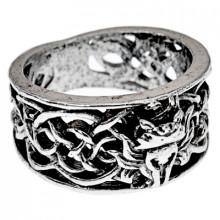 KL128-9 Кольцо Кельтская лиса, размер 19