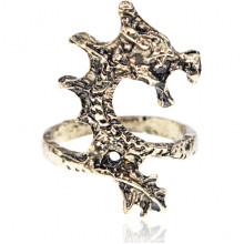 KL154 Кольцо Дракон, цвет бронза, размер 16