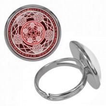 KLB006 Кольцо Магическая печать безразмерное