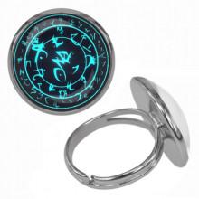 KLB009 Кольцо Магическая печать безразмерное