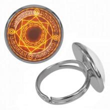 KLB011 Кольцо Магическая печать безразмерное