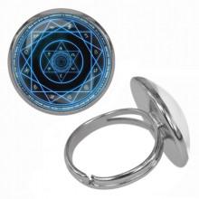 KLB017 Кольцо Магическая печать безразмерное