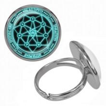 KLB023 Кольцо Магическая печать безразмерное