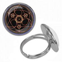 KLB030 Кольцо Магическая печать безразмерное