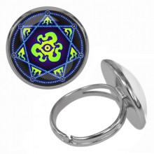 KLB035 Кольцо Магическая печать безразмерное