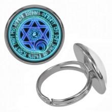 KLB036 Кольцо Магическая печать безразмерное
