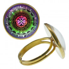 KLB040 Кольцо Магическая печать безразмерное