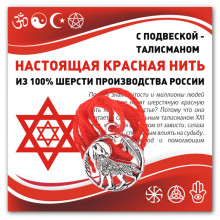 KN307 Красная нить Волк (защита, сила, победа)