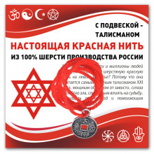 KN313 Красная нить Монетка (богатство)
