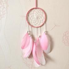 LS013-2 Подвеска Ловец снов, 55х12см, цвет розовый