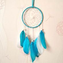 LS013-4 Подвеска Ловец снов, 55х12см, цвет голубой