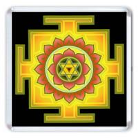 MA001 Магнит Багала-Мукхи янтра 6,5х6,5см, акрил