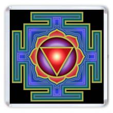 MA007 Магнит Тара янтра 6,5х6,5см, акрил