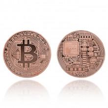 MN003-C Сувенирная монета Биткойн, d.4см, цвет медный