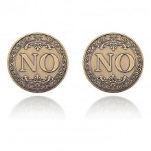 MN012 Сувенирная монета-розыгрыш Всегда говори НЕТ, d.4см