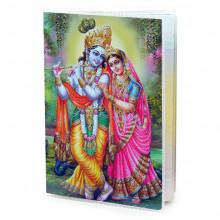 MOB047 Обложка для паспорта Кришна и Радха, ПВХ