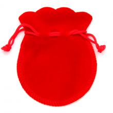 MS001R Мешочек бархат 7,5х9см красный