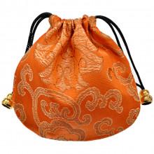 MS019-08 Мешочек из парчи 11х11см, цвет оранжевый