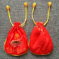 MS021-R Мешочек для чёток Лотос 12х15см, цвет красный