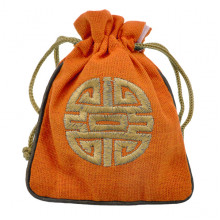 MS023-01 Мешочек со знаком Шоу 12х14,5см, хлопок, цвет оранжевый
