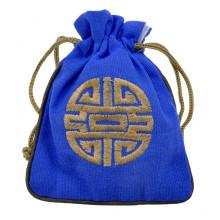 MS023-04 Мешочек со знаком Шоу 12х14,5см, хлопок, цвет синий