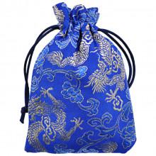 MS039-04 Мешочек из парчи 10х14см, цвет синий