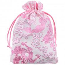 MS039-05 Мешочек из парчи 10х14см, цвет нежно-розовый