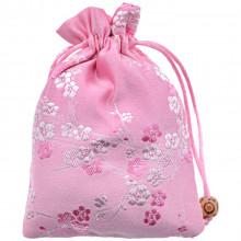 MS043-3 Мешочек из парчи 10х14см, цвет розовый