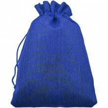 MS058-13x18 Мешочек из джута 13х18см, цвет синий