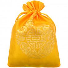 MS062-1 Мешочек из парчи 10х13см, цвет жёлтый
