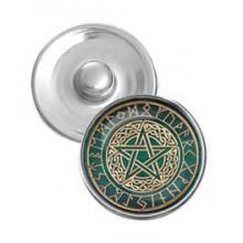 NSK035 Кнопка 18,5мм Кельтская Пентаграмма